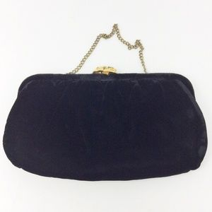 Black Velvet Small Vintage Evening bag